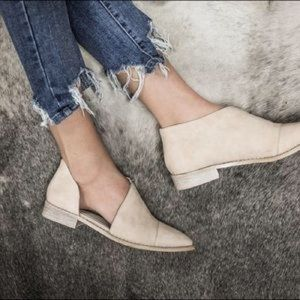 Cut Out Flats Beast, Fraya, beige, tan suede 7